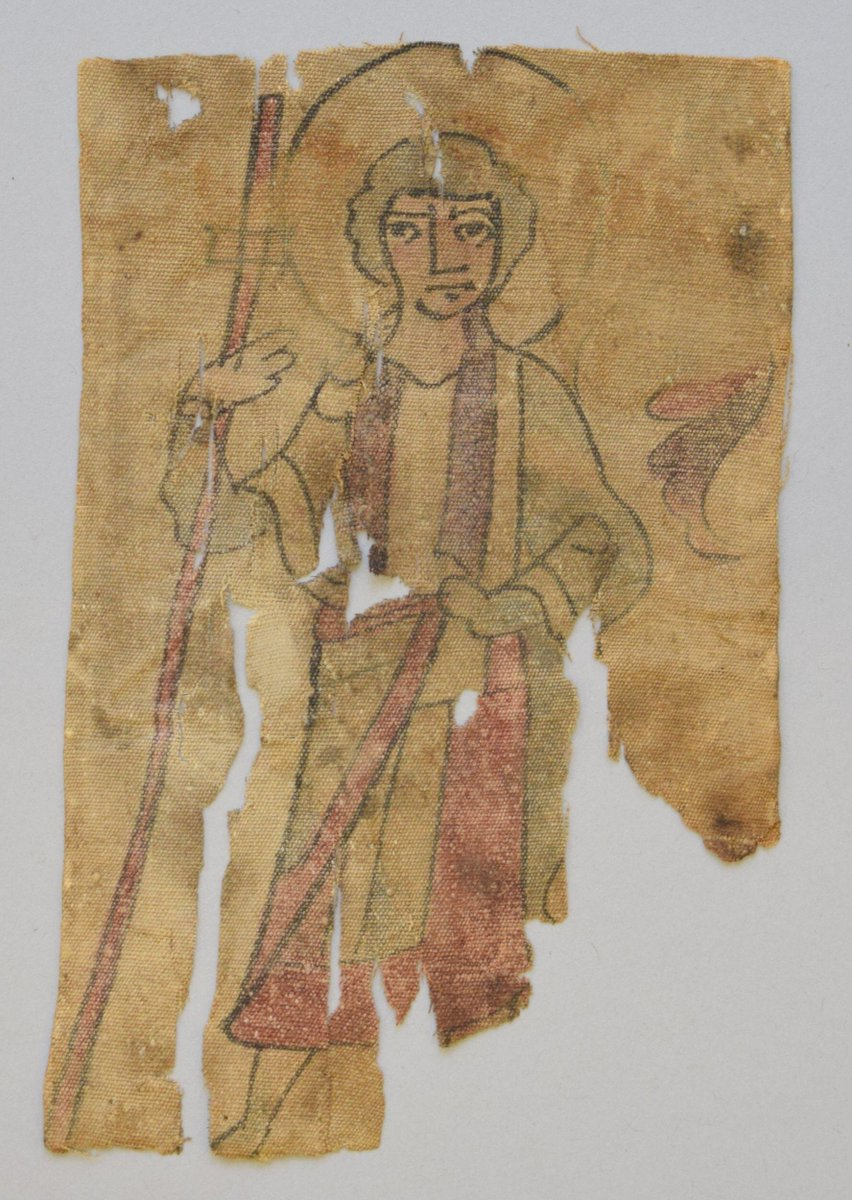 (c)Victoria and Albert Museum, London - 600s, Egyptian; Christ as Good Shepherd, red, blue, black