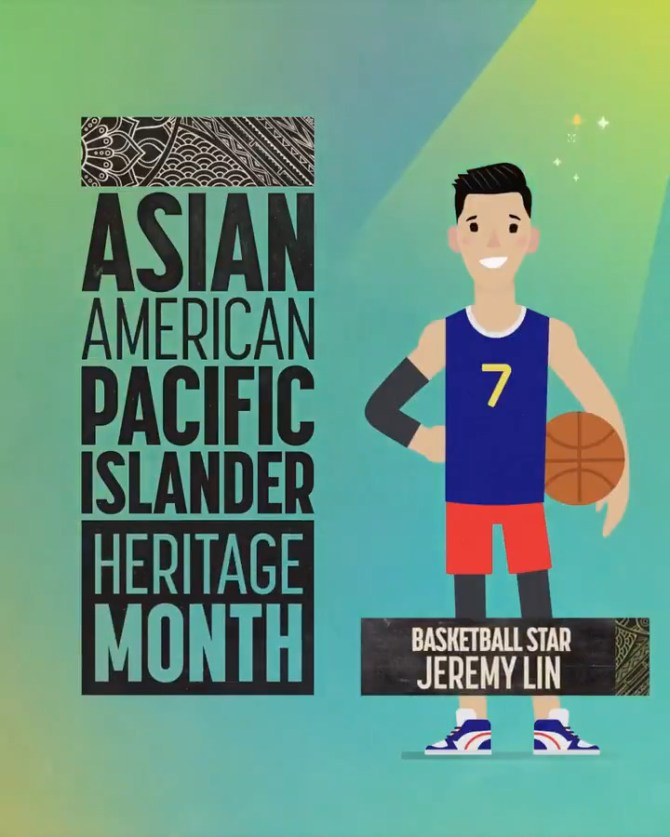 .@UniversalKids continues the celebration of #AAPIMonth with a tribute to basketball player Jeremy Lin (@JLin7). 🏀 #AAPIxNBCU