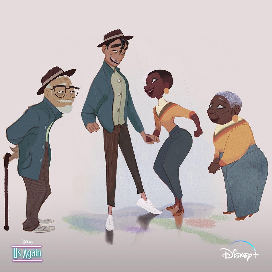 "Disney Animation's tweet - ""Growing old together ❤️ Us Again is now  streaming on @DisneyPlus. 🎨: James Woods, Visual Development "" - Trendsmap"