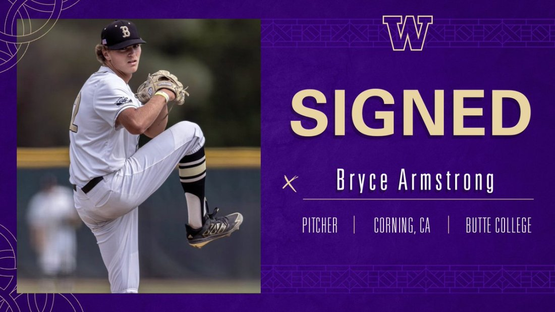 test Twitter Media - 🚨 New Dawg Alert! 🚨  We're excited to add Bryce Armstrong to our roster for the 2022 season!  Bryce was named Golden Valley Conference Pitcher of the Year after a dominant season at Butte College, going 7-0 with a 2.35 ERA and 41 Ks in 38.1 innings  #DaWgStrong /// #GoHuskies https://t.co/8xAjlhl9J2