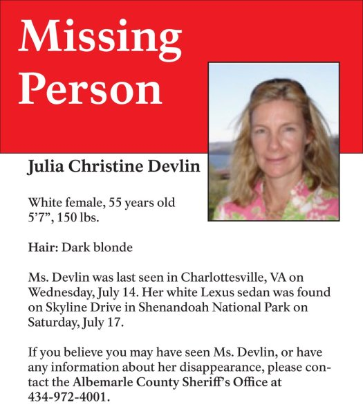 Hope they find her and she's safe.
