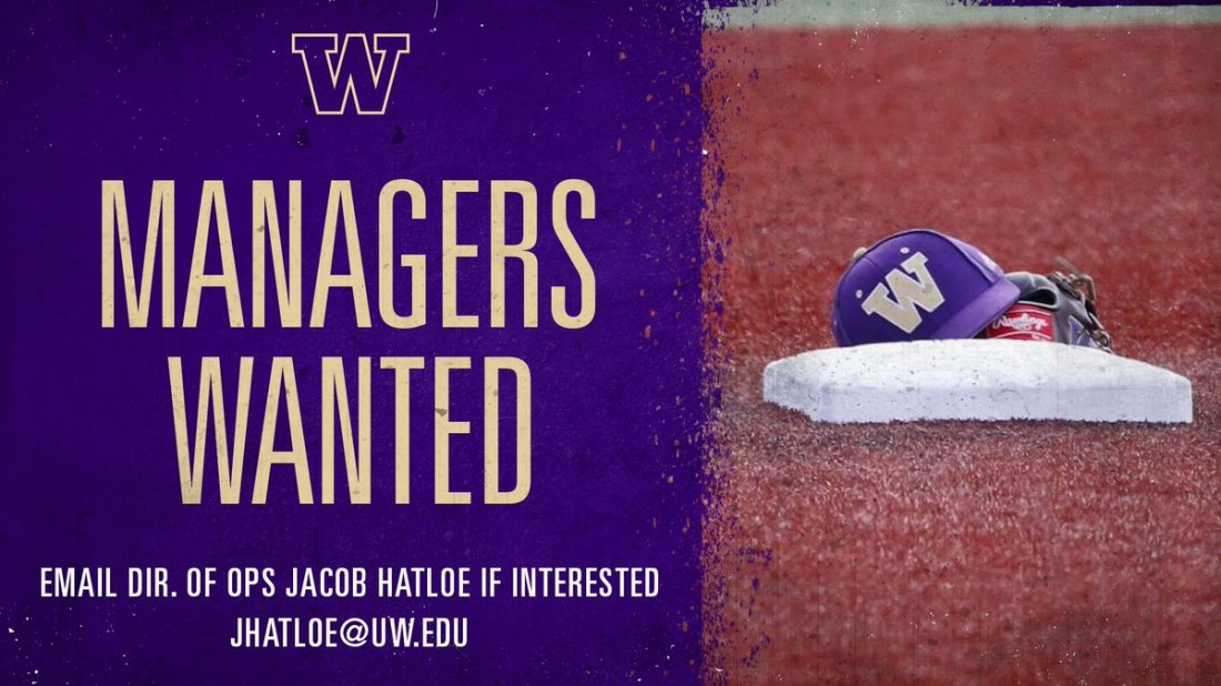 test Twitter Media - 🚨🚨🚨  We are currently searching for managers for this upcoming season!  Interested in joining the UW Baseball program? Send an email to our Director of Operations Jacob Hatloe (jhatloe@uw.edu) for more information.  #DaWgStrong https://t.co/Hdq3cINvld