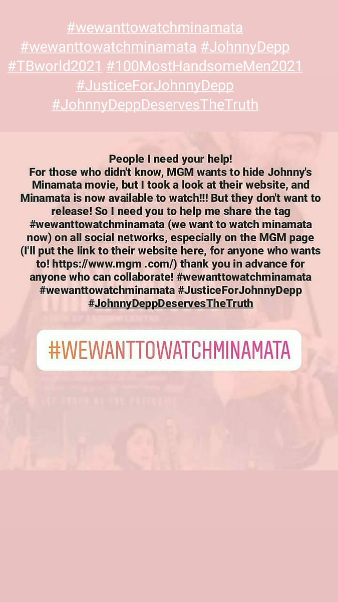 #JusticeForJohnnyDepp ⚖️ #MenToo ♂️ #ReleaseMinamata