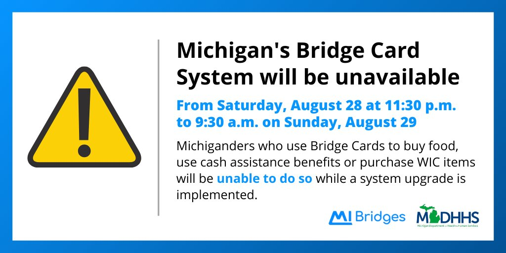 You can use your michigan bridge card at an automated teller machine (atm) to get cash, or a retailer point of sale (pos) terminal to perform a cash purchase. 9k06k6twmkzudm