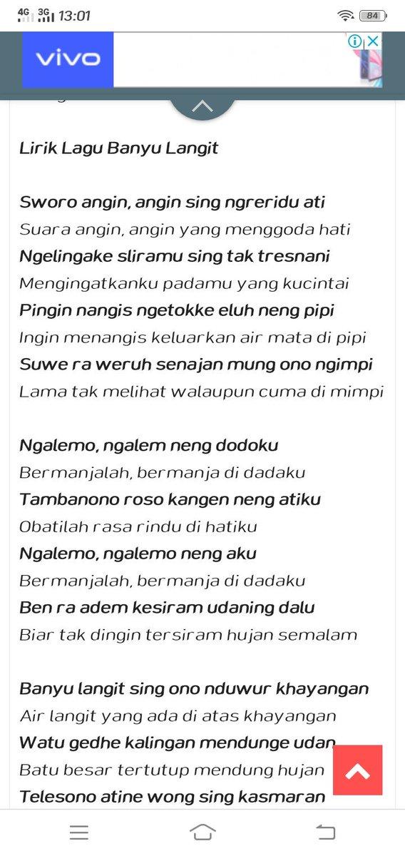 Lirik Lagu Banyu Langit Didi Kempot Dan Artinya Ilmu Pengetahuan 6