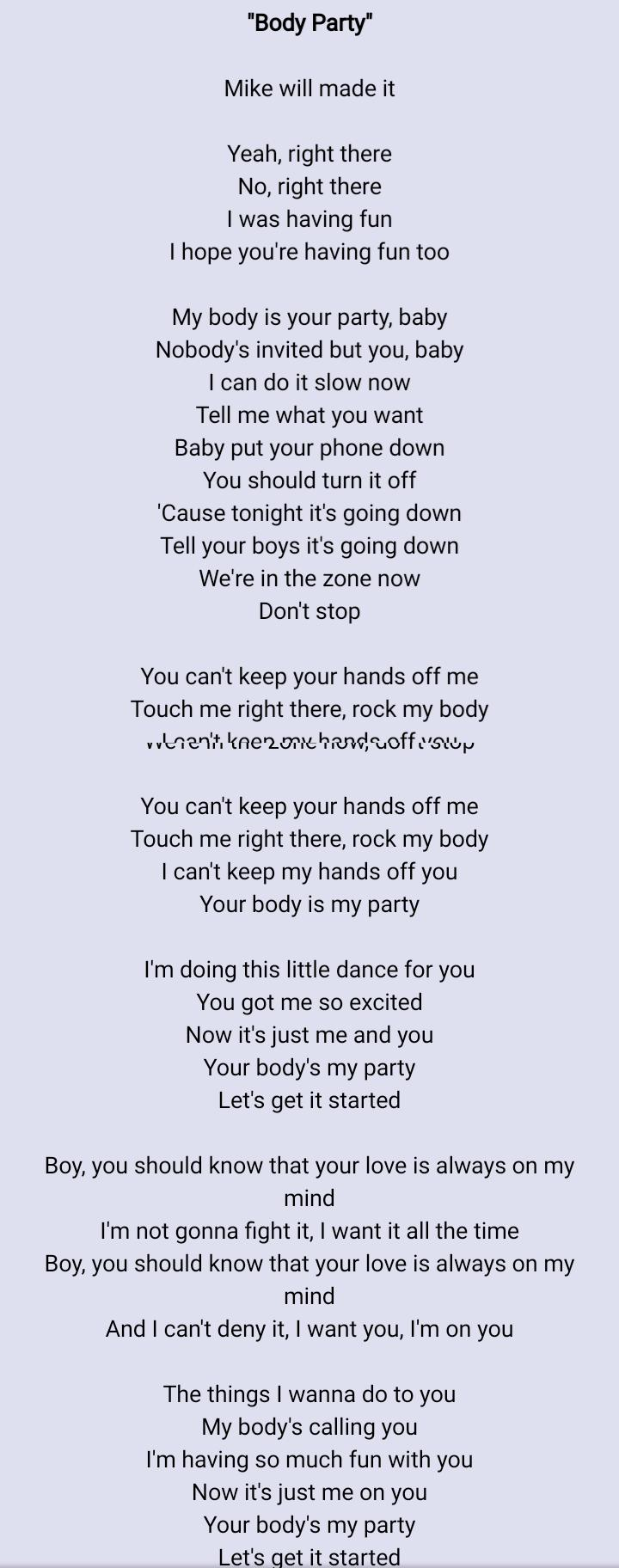 Come On Baby Put Your Hands On My Body Lyrics : hands, lyrics, Twitter:,