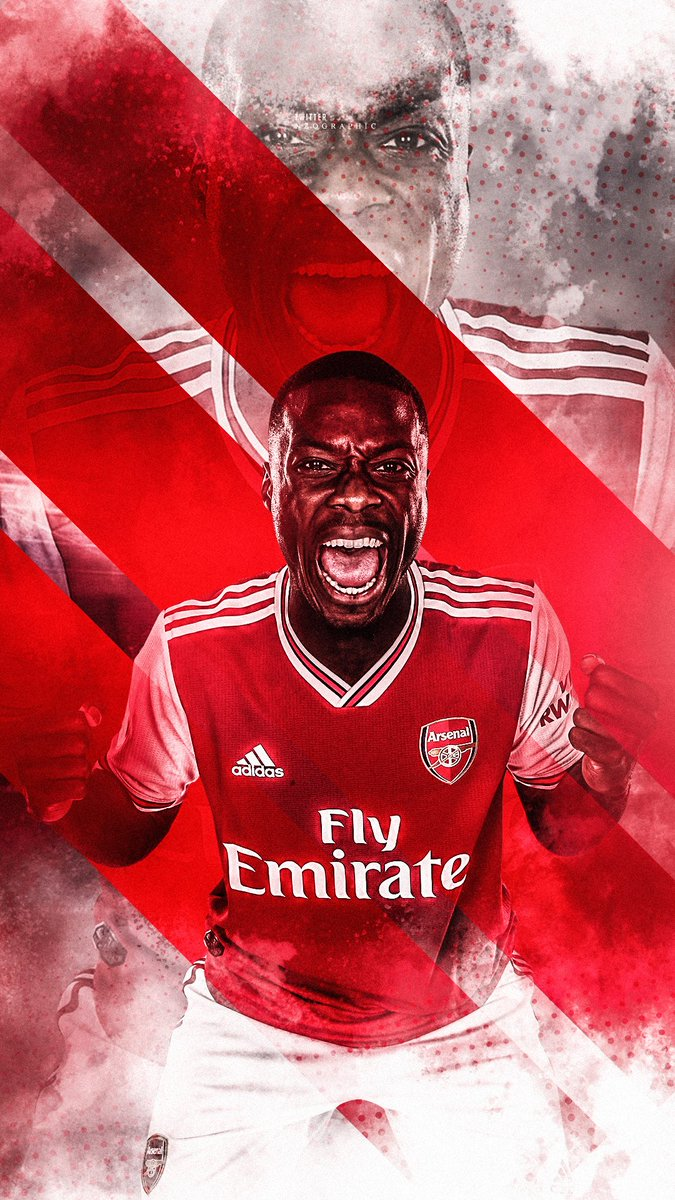 nicolas pepe x arsenal wallpaper