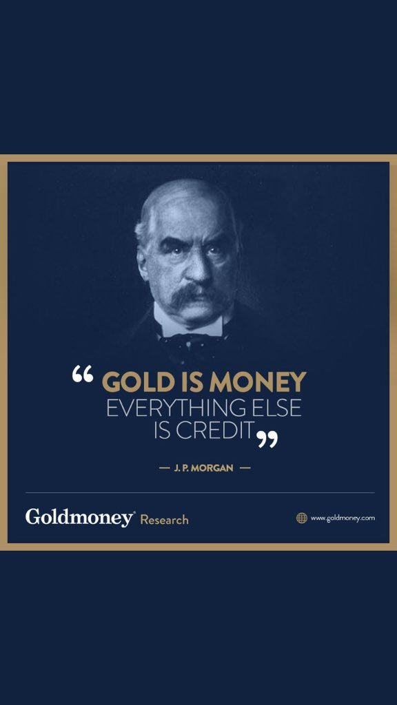 Gold Is Money Everything Else Is Credit : money, everything, credit, Daniel, Lacalle, Twitter:,