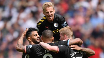 Man city trash west ham Sterling bags Hat trick