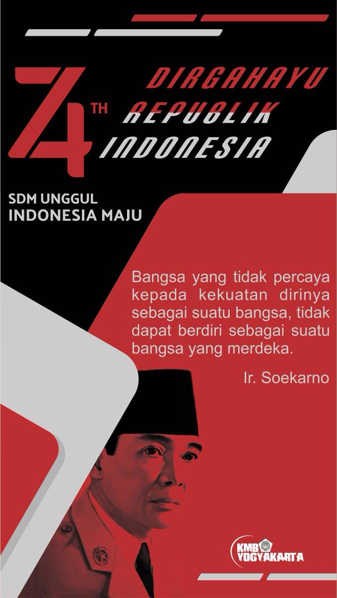 Poster Kemerdekaan Indonesia Ke 74 : poster, kemerdekaan, indonesia, MAHASISWA_BARA, Twitter:,