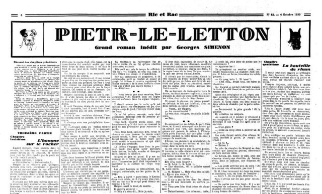 """Presses de la Cité on Twitter: """"Le personnage de Maigret est né... sur  l'eau ! ⚓️ C'est à bord de son bateau, l'Ostrogoth, que Georges #Simenon  écrit """"Pietr le Letton"""". Il s'agit"""