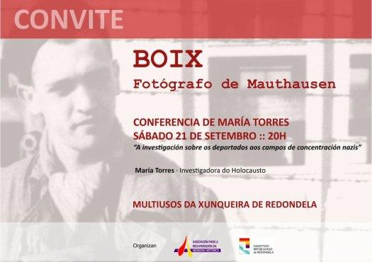 test Twitter Media - Esta tarde en Redondela, charla de Maria Torres sobre a deportaciión de galegos a campos nazis. https://t.co/6XMGstkrR4