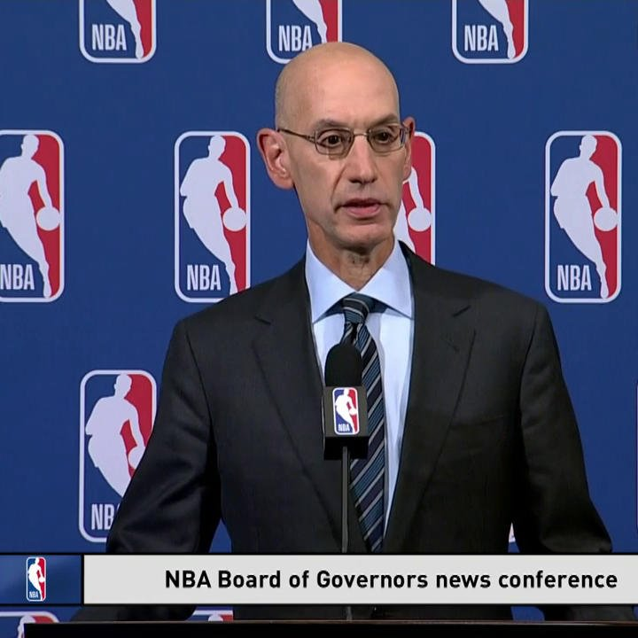Image for the Tweet beginning: NBA Commissioner Adam Silver discusses