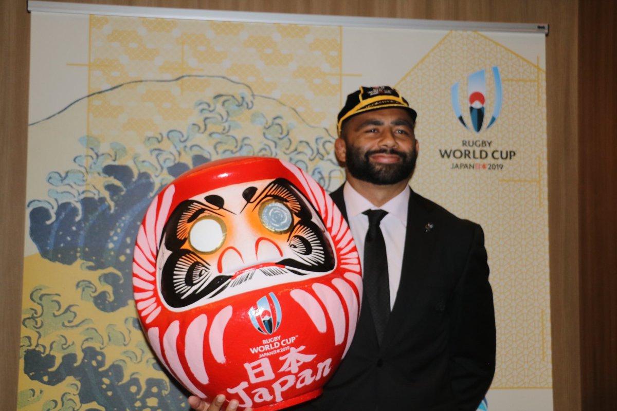test ツイッターメディア - もうすぐラグビーワールドカップはじまるよ!縁起のよい紅白の日本代表チームを、縁起のよい山田るまが全力で応援致します! #BRAVEを届けよう  #RWC2019 https://t.co/weE93IRqar