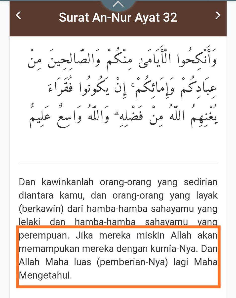 Surat An Nur Ayat 32 : surat, Abdul, Mu'iz, Twitter:,
