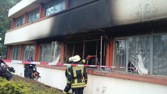 , Fire Burns Down Busia County Offices