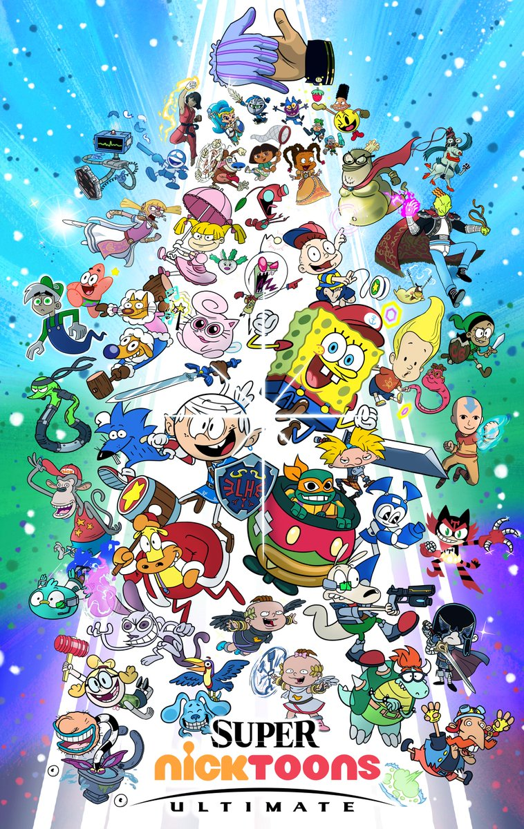 Nicktoons : nicktoons, Nickelodeon, Animation, Twitter:, ULTIMATE, Nicktoons, Mashup, Poster, @timprendergram, @kurtmsnyder,, Annual, Smash, Bros., Tournament!, 💥#InsideNick…, Https://t.co/Mwp5kYOyhK