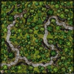 Dense Forest Battle Map 15