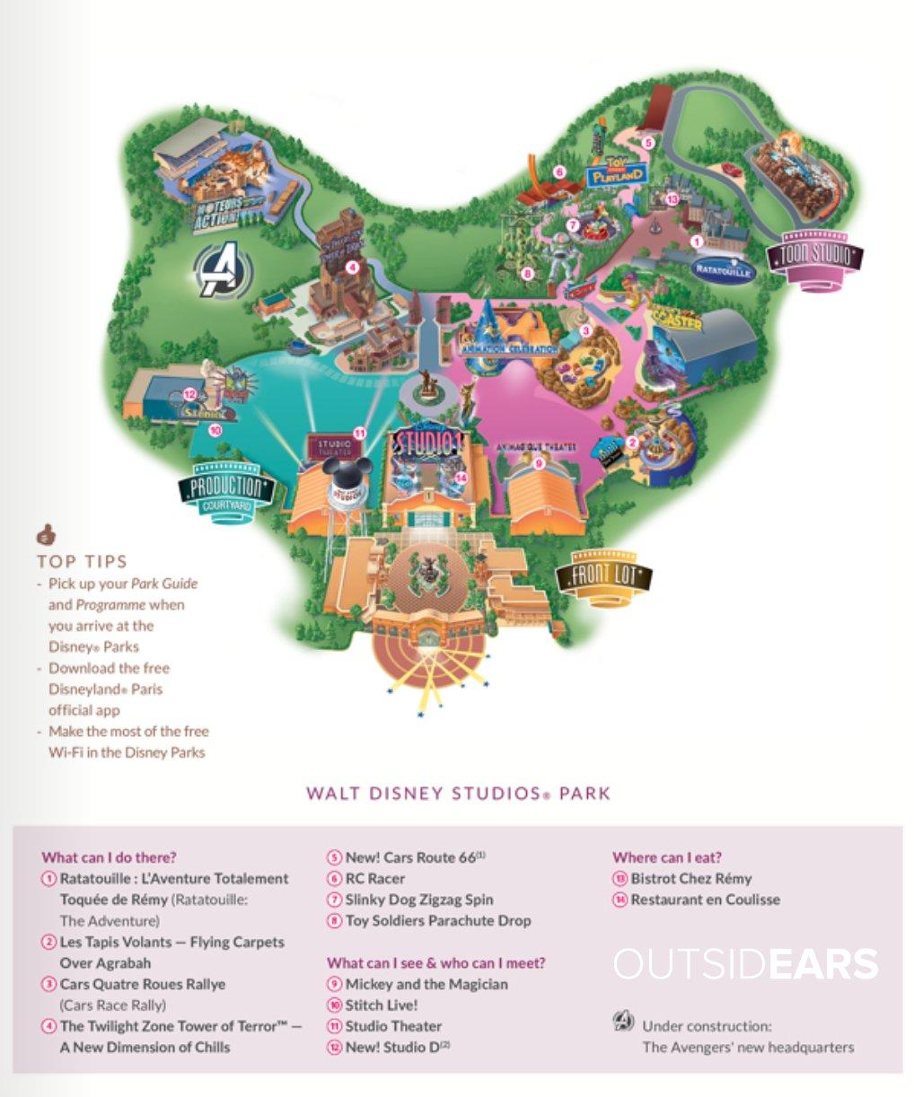 Disneyland Paris Map 2020 : disneyland, paris, OutsidEars, Twitterissä:,