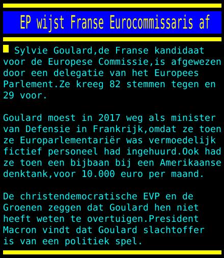 opstand in het EU-parlement