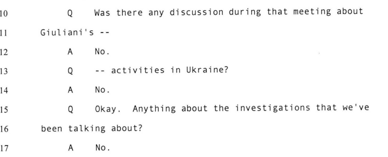 "🚨BREAKING: Kurt Volker changes his prior testimony and now admits that Gordon Sondland *did* bring up ""investigations"" during a July 10 meeting with senior Ukrainian officials.  Perhaps Roger Stone's criminal conviction for LYING to Congress helped refresh Volker's memory.🤔"