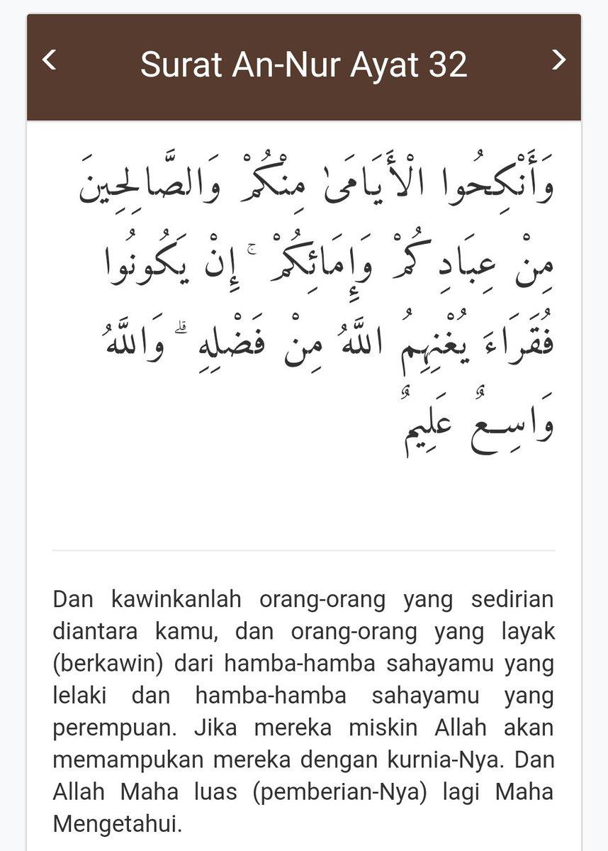 Surat An Nur Ayat 32 : surat, Sabaidin, (@Sabaidin2), Twitter