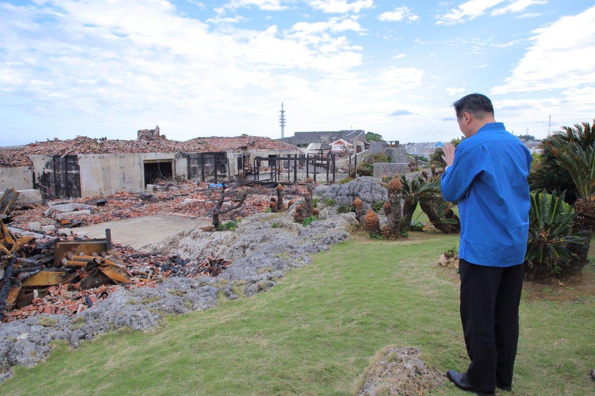 test ツイッターメディア - 本日、立憲民主党 #福山哲郎 幹事長は首里城を視察、その後県庁にて #玉城デニー 知事と面談を行いました。首里城再建に際し沖縄県をバックアップすること、辺野古新基地建設阻止、普天間の危険性を一刻も早く除去するなどの思いを共有しました。#立憲民主党沖縄県連#ひやみかち首里城 https://t.co/3yq3Kx70AF