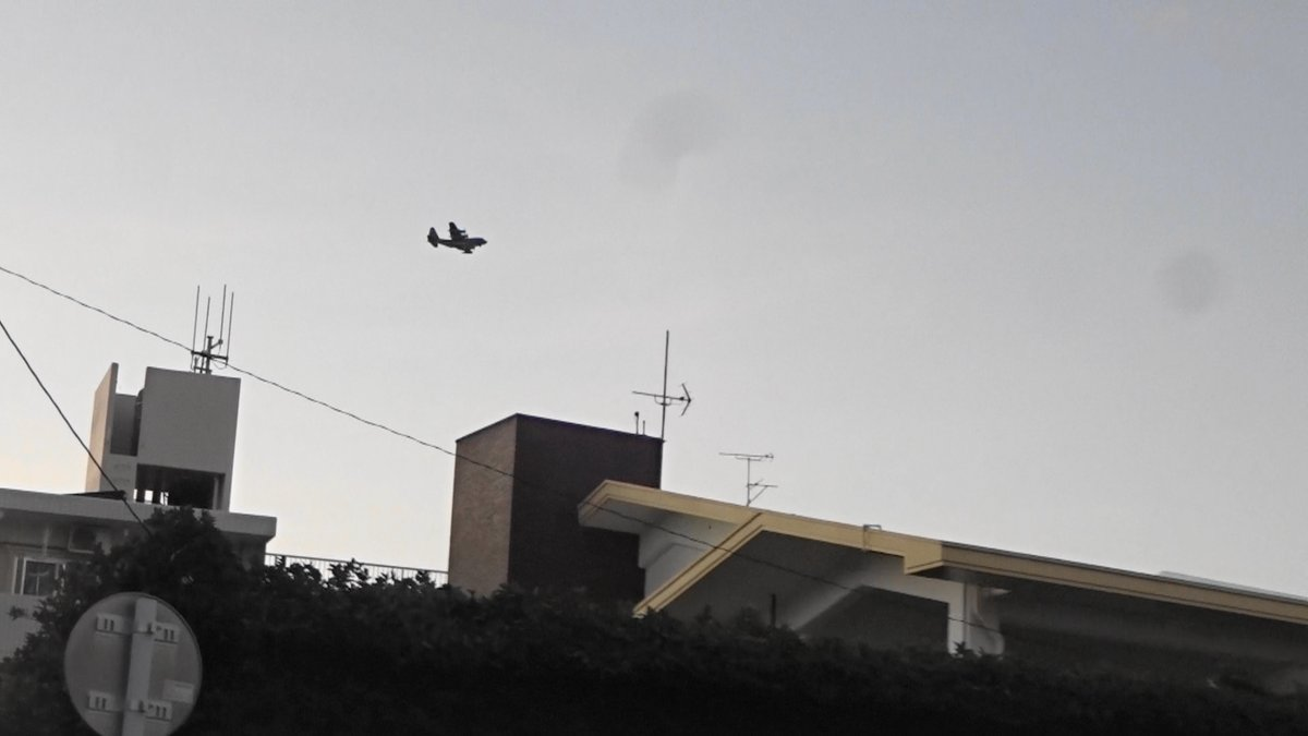 test ツイッターメディア - MC130違反飛行)2019年12月17日午後5時45分嘉手納米軍基地。嘉手納町住民地域上空で、爆音と排気ガスを撒き散らし違反飛行を繰り返す米軍機MC130。危険極まりない、生活環境破壊、人権侵害だ!米軍は沖縄から出て行け!https://t.co/iGHBCQfpXx https://t.co/QA1yNpHCbP
