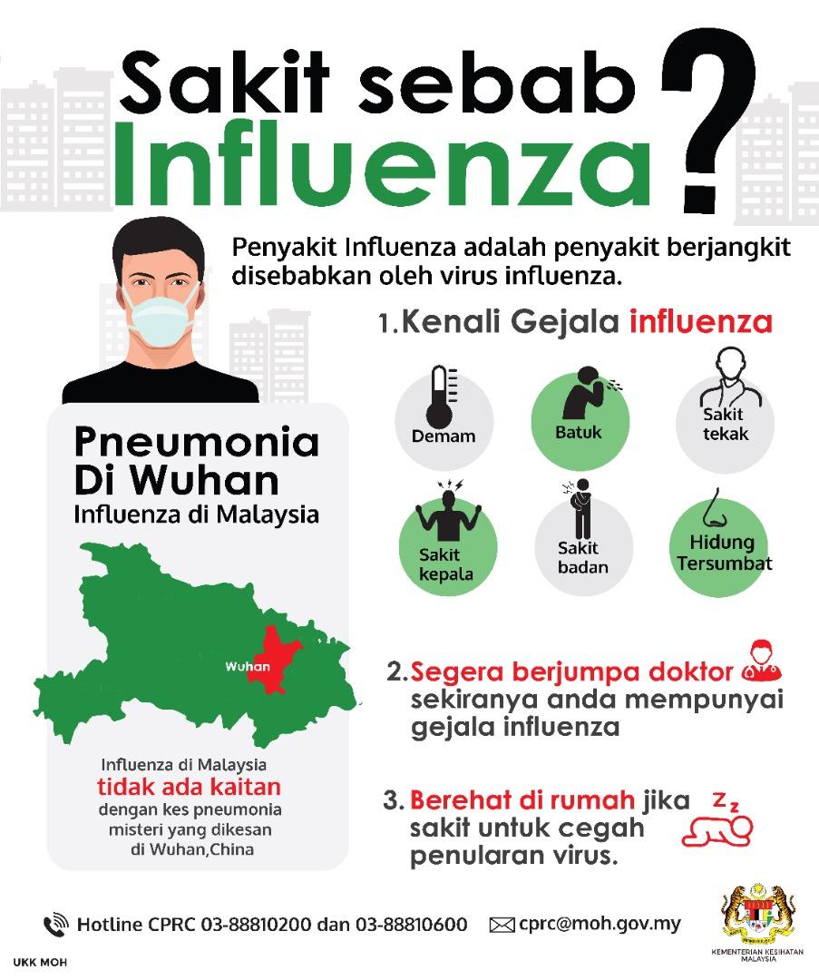 """Uživatel KKMPutrajaya na Twitteru: """"3. Influenza in Malaysia is ..."""