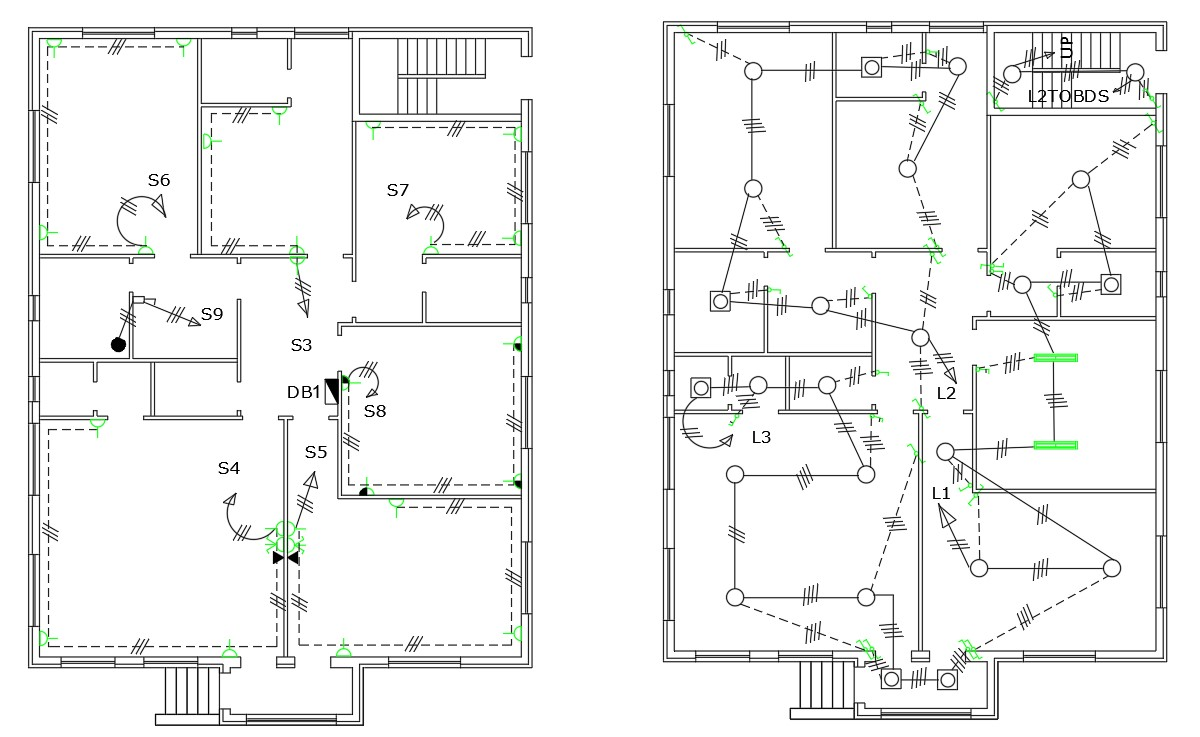 43+ Autocad House Wiring Diagram Background