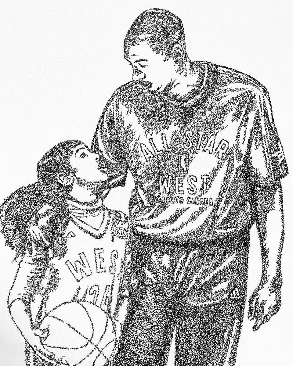 Kobe And Gigi Drawing : drawing, Bleacher, Report, Twitter:, Detail, Portrait, Gigi,, Using, Their, Names,, Amazing., Alx_n_ria/IG)…