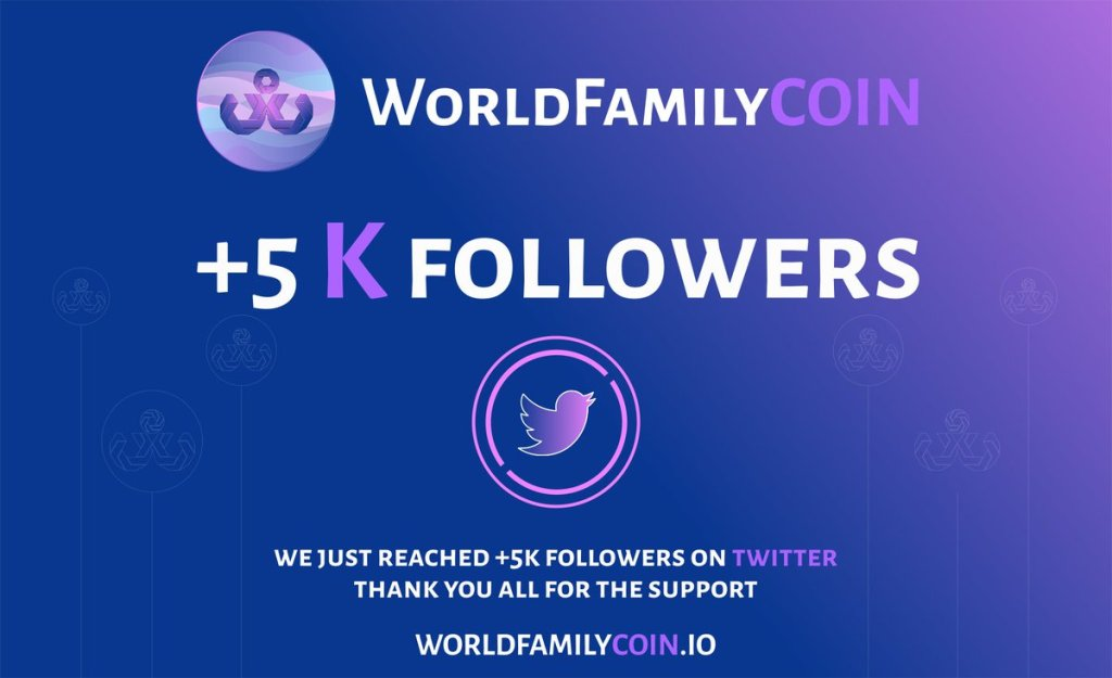 we just reached +5k members on twitter thank you all for the support #blockchain... 4