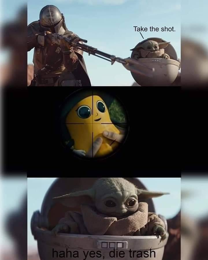 Baby Yoda Die Trash : trash, (@EvilBabyYoda), Twitter