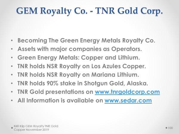 $TNR.v #TNRGold Corp. is working to become the #green #energy metals royalty and... 7