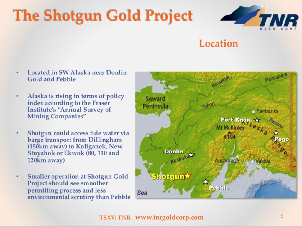 #TNRGold also owns a 90%-interest in the #ShotgunGold Project, located in Alaska... 11