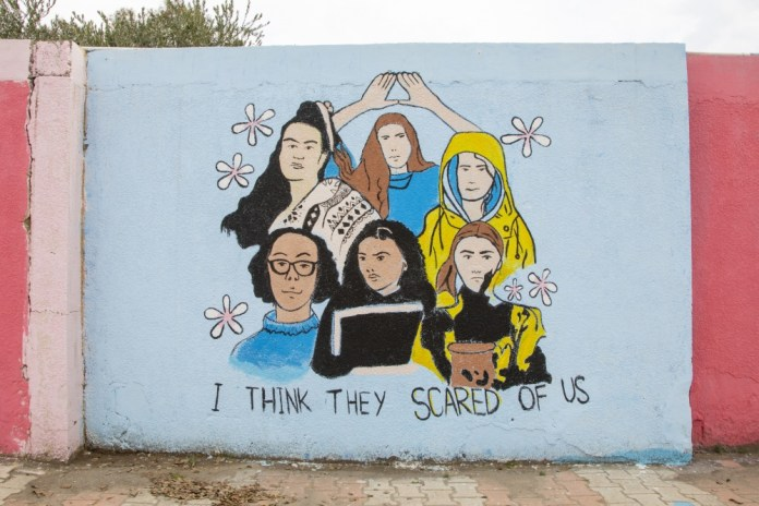 """Inherent Resolve on Twitter: """"Murals empowering women line a walkway in the  city of Erbil in the Kurdistan Region of Iraq. The murals promoted gender  equality, advocated against gender-based violence and showcased"""