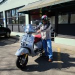 Vespa Portland On Twitter Sau Has Ridden Many Scooters Over The Years But Today He Took Home His Very First Vespa He Chose The Gts 300 Supertech Hpe And Loaded It With