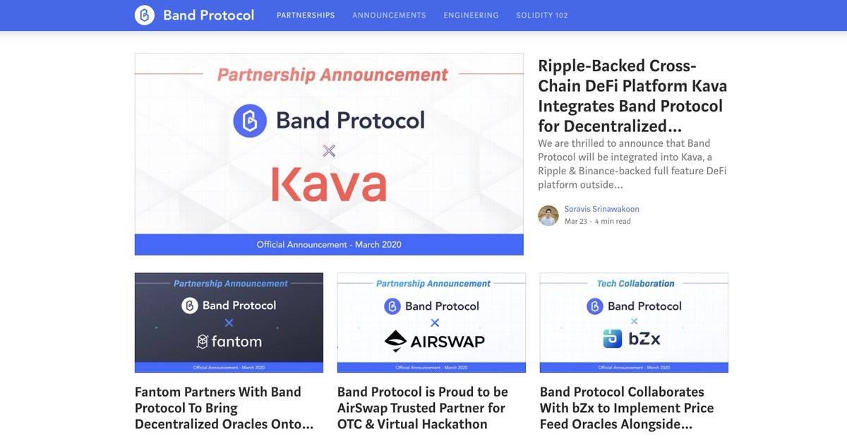 $BAND is on  again with yet another top-tier partnership.   $KAVA is using Band... 1