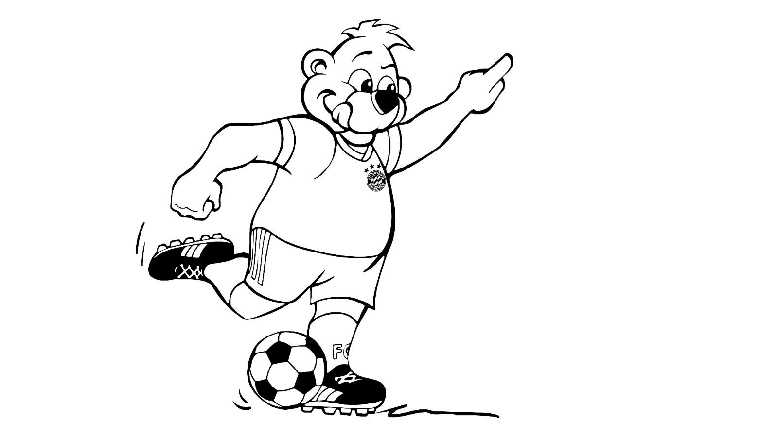 Fc Bayern Berni Ausmalbilder Kinder Ausmalbilder