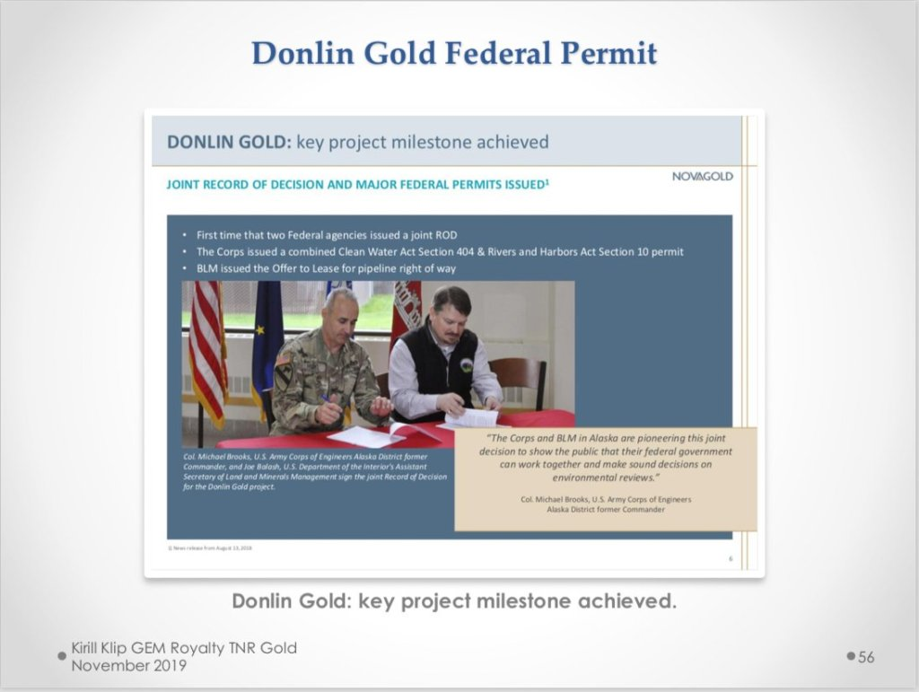 #DonlinGold is moving forward in #Alaska. Fully permitted and even more, small p... 28