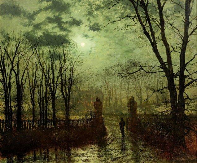"""Sanatın Tarihi on Twitter: """"John Atkinson Grimshaw, """"Park ..."""