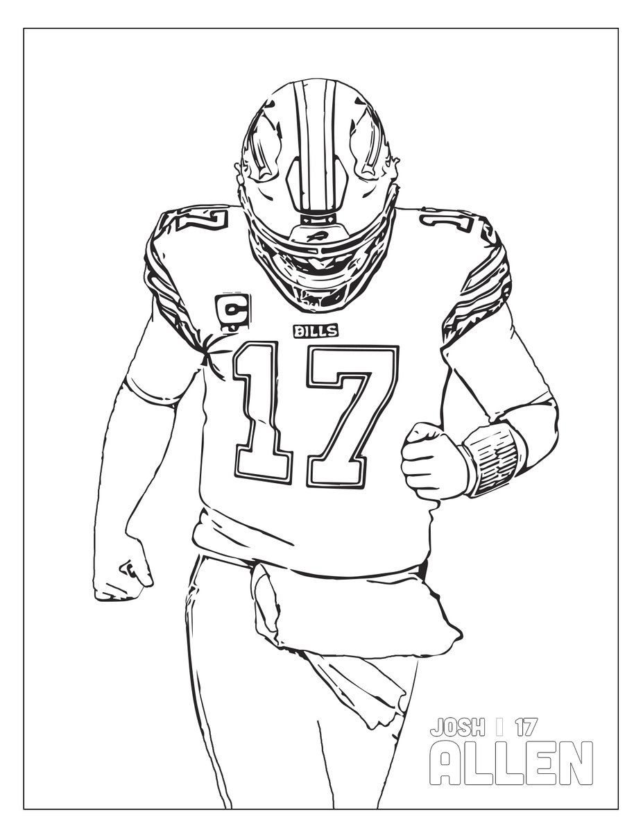 Cool Coloring Pages Buffalo Bills - NFL American football