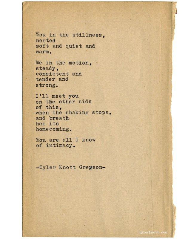 "Tyler Knott Gregson on Twitter: ""Typewriter Series #26 by Tyler"