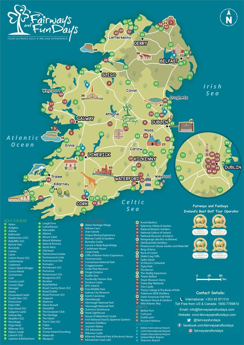 Map Of Ireland Golf Courses : ireland, courses, Fairways, FunDays, Twitter:,