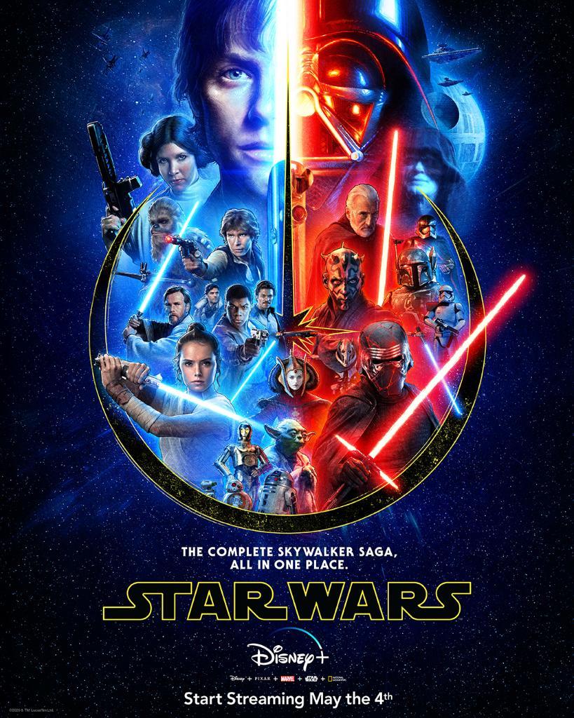Stars Wars 1 Streaming : stars, streaming, Disney+, Twitter:, Complete, Skywalker, Saga,, Place., Stream, Movies, #DisneyPlus.…