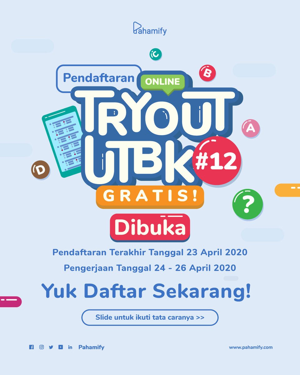 TRY OUT TPS UTBK SBMPTN SNMPTN (@tryoututbk_gratis)...