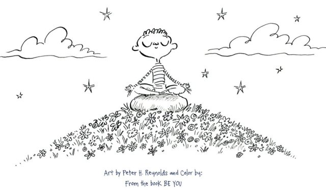 """Peter H. Reynolds on Twitter: """"Free coloring sheet - you can"""