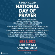 Jack Graham and Greg Laurie to Host Online-Only National Day of Prayer Event on Pray.com Featuring Secretary of State Mike Pompeo, Tony Evans, Franklin Graham, Tim Tebow, Samuel Rodriguez, and Several Other Pastors and Christian Musicians