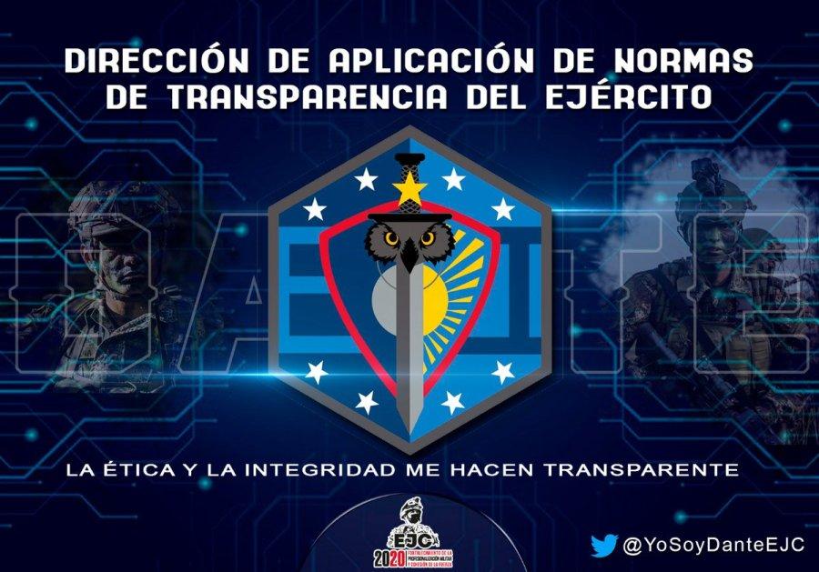 """Uživatel DANTE_EJC na Twitteru: """"#Misión: DANTE promueve la aplicación de  normas que generen cambios culturales y pedagógicos enmarcados en la ética  y la transparencia entre los integrantes del Ejército Nacional de  #Colombia. #"""
