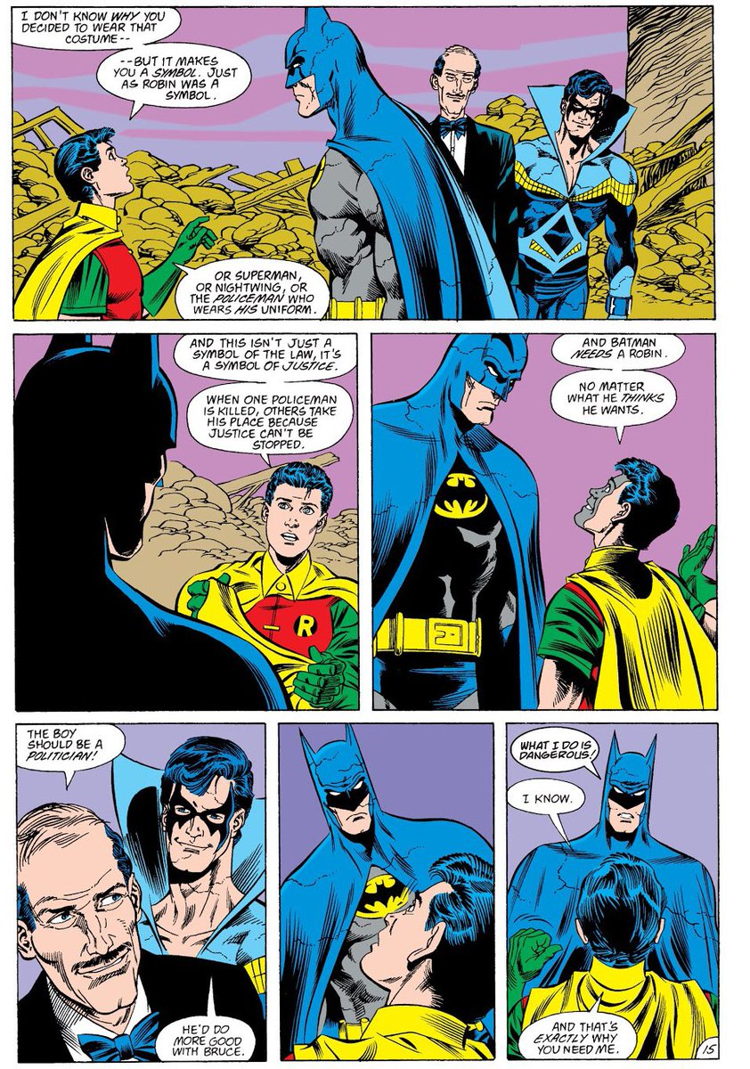 """Questioning Comics on Twitter: """"Tim Drake persuades Batman that he needs a  Robin. Tim, more than anyone else, understood why Batman needed Robin and  he explains that excellently in this classic sequence"""